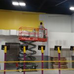 Planet Fitness interior painting